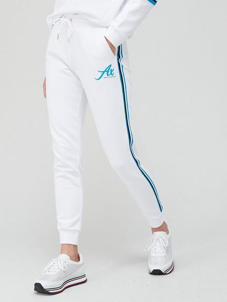 armani-exchange-logo-sweatpants-white