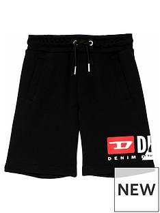 diesel-boys-cut-logo-jog-shorts-black
