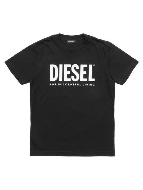 diesel-boys-logo-t-shirt-black