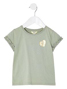 river-island-mini-girls-logo-ruffle-t-shirt--nbspgreen