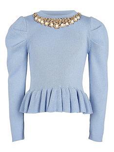 river-island-girls-peplum-knitted-jumper--nbspblue