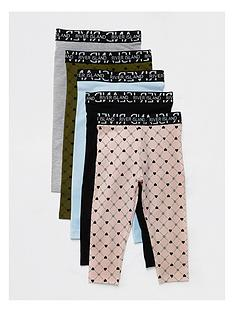 river-island-mini-mini-girls-5-pack-legging-multi