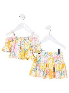 river-island-mini-mini-girls-floral-bardot-and-skirt-set-multi