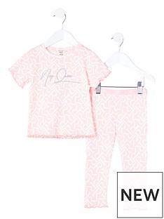 river-island-mini-mini-girls-nap-queen-pyjama-set--nbsppink