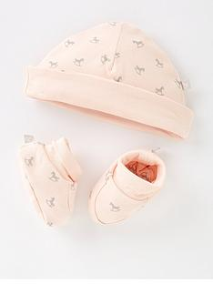 the-little-tailor-baby-girls-super-soft-hat-and-bootie-gift-set-pink