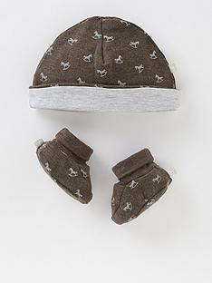 the-little-tailor-unisex-baby-super-soft-hat-and-bootie-gift-set-grey