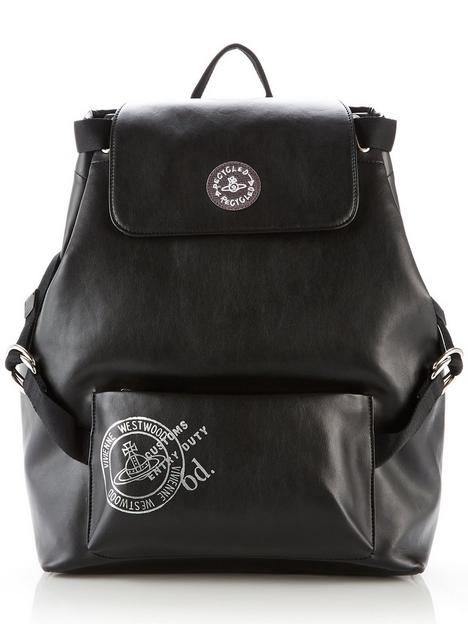 vivienne-westwood-mens-depotnbsplarge-orb-logo-backpack-black