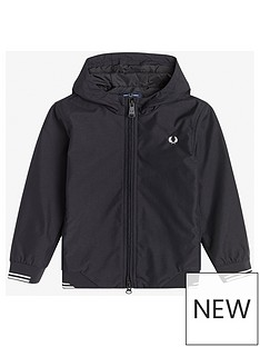 fred-perry-boys-hooded-brentham-jacket-black