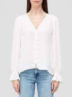 joie-bolona-button-thru-frill-sleeve-blouse-cream