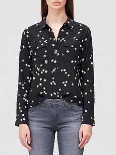 equipment-slim-starnbspprint-signature-silk-shirt-black