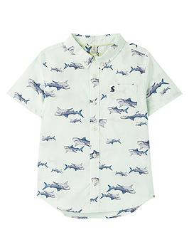 joules-boys-sefton-shark-print-short-sleeve-shirt-green