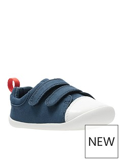 clarks-first-roamer-craft-canvas-shoe-navy