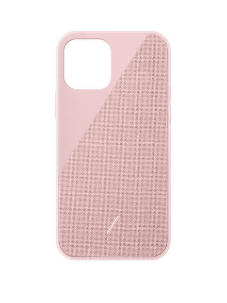 native-union-clic-canvas-hard-wearing-fabric-case-for-iphone-1212-pro-rose