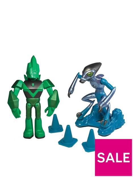 ben-10-ben-10-action-figures-metallic-twin-pack-metallic-diamond-head-metallic-xlr8