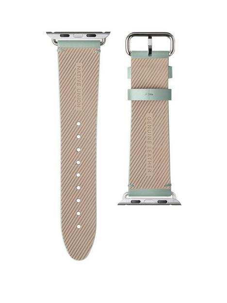 native-union-genuine-leather-classic-strap-for-apple-watch-44mm-sage