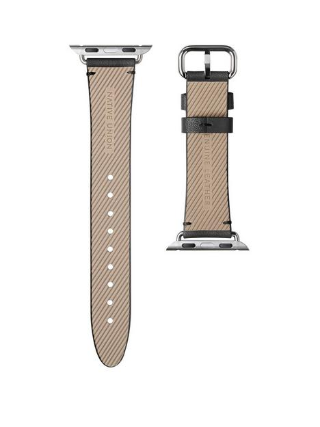 native-union-genuine-leather-classic-strap-for-apple-watch-40mm-black