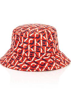 kenzo-monogram-bucket-hat-orange