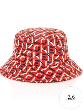 kenzo-monogram-bucket-hat-orange