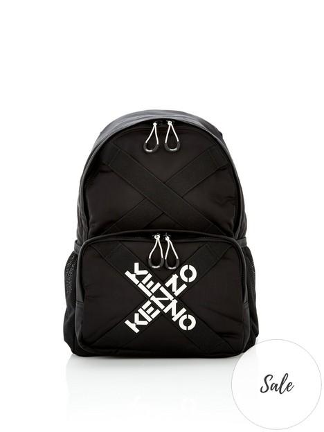kenzo-sport-logo-backpack-black