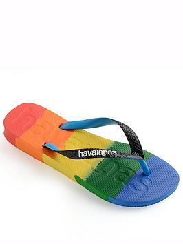 Havaianas Logomania Flip Flop - Rainbow, Rainbow, Size 3-4, Women
