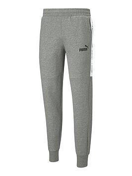 puma-amplified-fleece-pants-medium-grey-heather