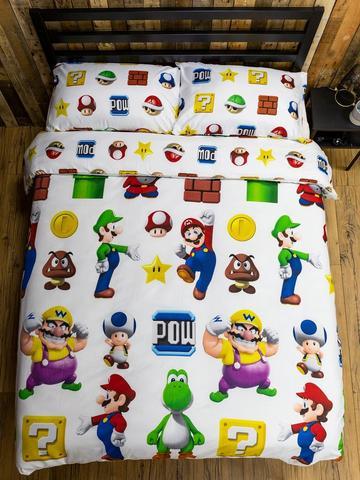 Super Mario Bros Bedding Child, Super Mario Bros Full Size Bedding