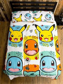 Pokemon Rocks Reversible Double Duvet Set