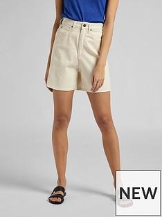 lee-stella-ultra-high-waist-shorts-ecru