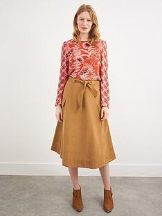 white-stuff-high-waisted-belted-casual-skirt-brown