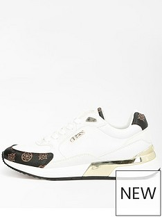 guess-gold-trim-trainer-white