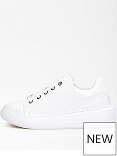 guess-all-over-printnbspcupsole-trainer-white