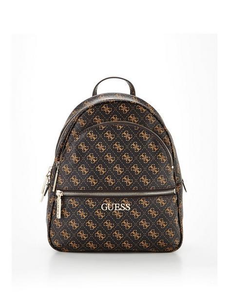 guess-manhattan-logo-backpack-brown