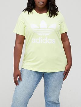 adidas-originals-adidas-originals-trefoil-tee-plus-size-yellow