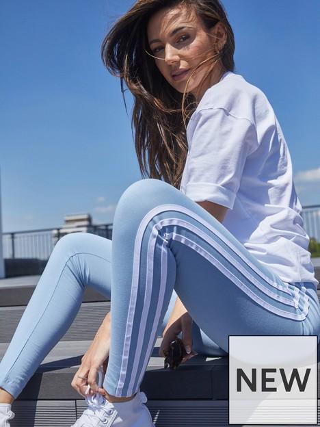 adidas-originals-3-stripes-leggings-light-blue