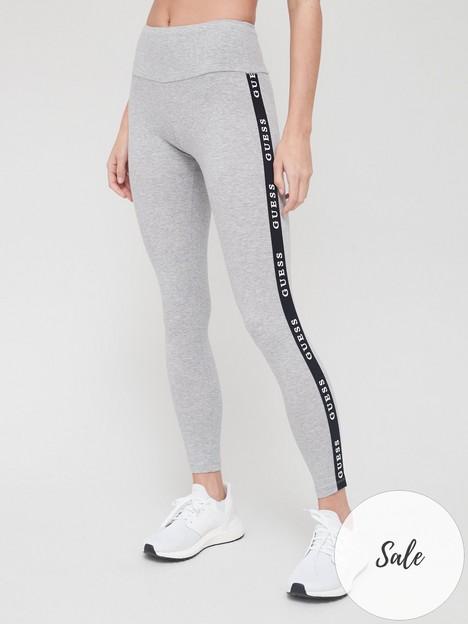 guess-side-tape-logo-legging-grey-marl