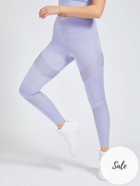 guess-mesh-insert-leggings-pale-blue