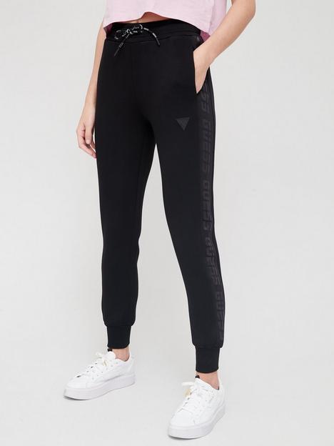 guess-logo-drawstring-jogger-black