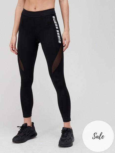 guess-logo-mesh-legging-black