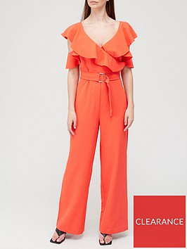 guess-abel-frill-jumpsuit-red