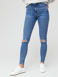 v-by-very-premium-high-waist-knee-rip-skinny-jean-mid-wash