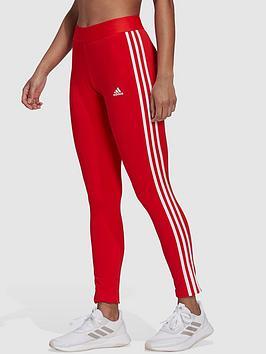 adidas-essentials-3-stripes-leggings-redwhite