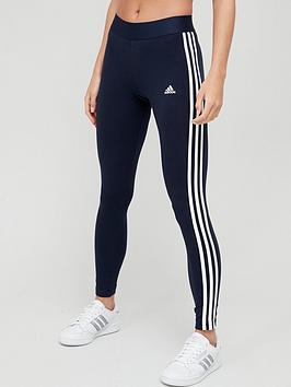 adidas-essentials-3-stripes-leggings-navywhite