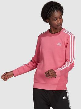 adidas-3-stripesnbspfleece-sweat-top-rose