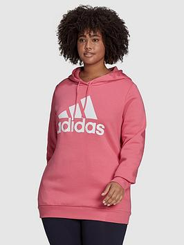 adidas-essentials-big-logo-fleece-hoodie-plus-size-rose