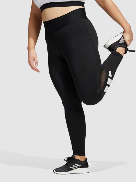 adidas-adidas-tech-fit-3-bar-logo-leggings-plus-size