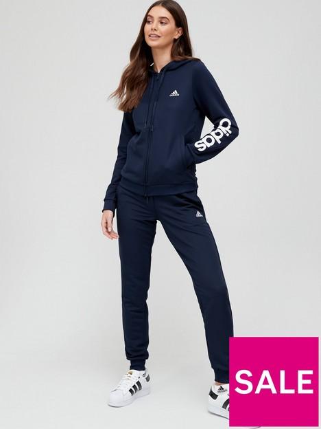adidas-essentials-linear-tracksuit-navywhite