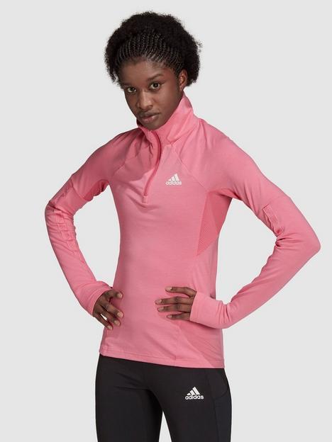 adidas-motion-half-zip-long-sleeve-tee-rose
