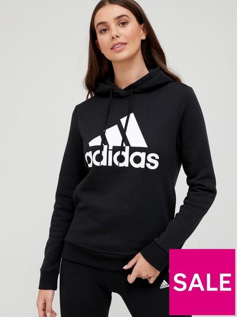 adidas-essentials-big-logo-fleece-hoodie-blackwhite