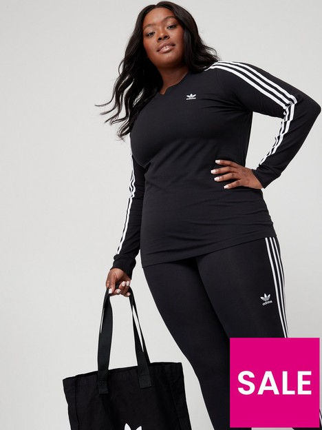 adidas-originals-plusnbsp3-stripes-long-sleeve-tee-black