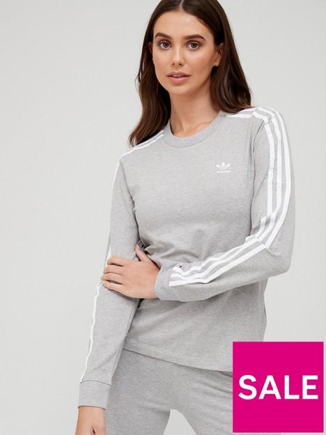 adidas-originals-3-stripes-long-sleeve-top-medium-grey-heather